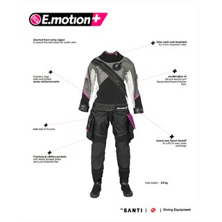 Santi E.MOTION+ Ladies First lime dunkelgrau schwarz